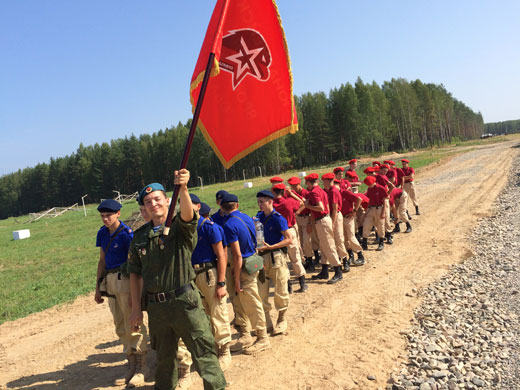 ВПК ДОСААФ России на марше