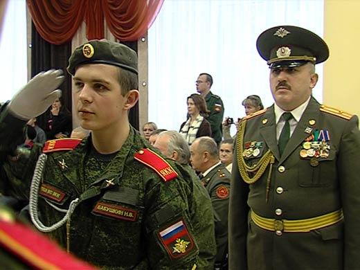Воспитанники кадетского колледжа произнесли торжественную клятву на верность Родине