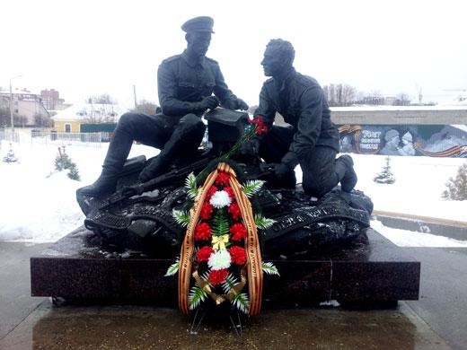 Возложение венка к мемориалу-памятнику Героям-финансистам