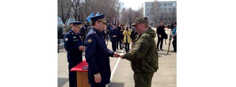 Руководство ДОСААФ в гвардейской десантно-штурмовой бригаде ВДВ